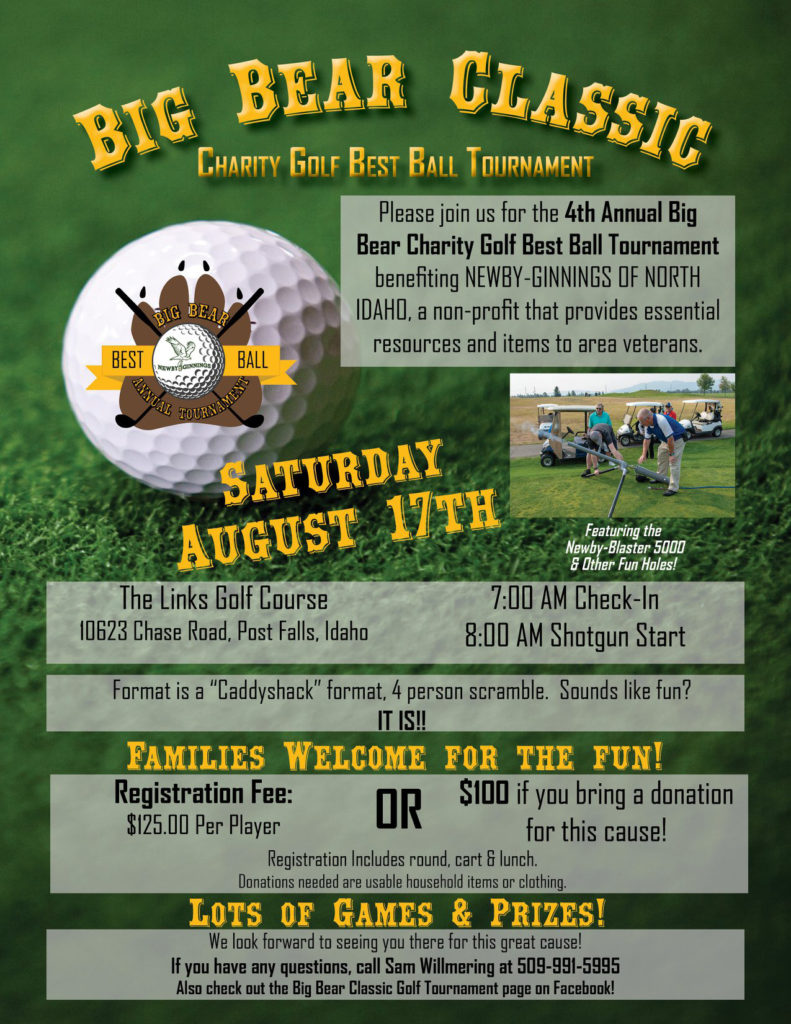 The Big Bear Classic Golf @ The Links | Post Falls | Idaho | United States