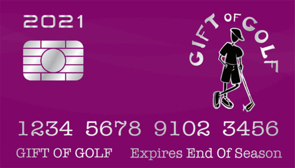 1st time ever – GIFT OF GOLF card available for holiday purchase!
